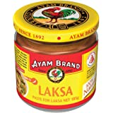 Ayam Brand Laksa Paste | Made with 100% Natural Ingredients | Great for Easy and Quicker Home Cooking | Halal & Healthier Choice | Contains No Preservatives or Additives | Great Flavour - 185g