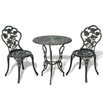 Amazon De Vidaxl 3tlg Bistro Set Tisch 2 Stuhle Essgruppe