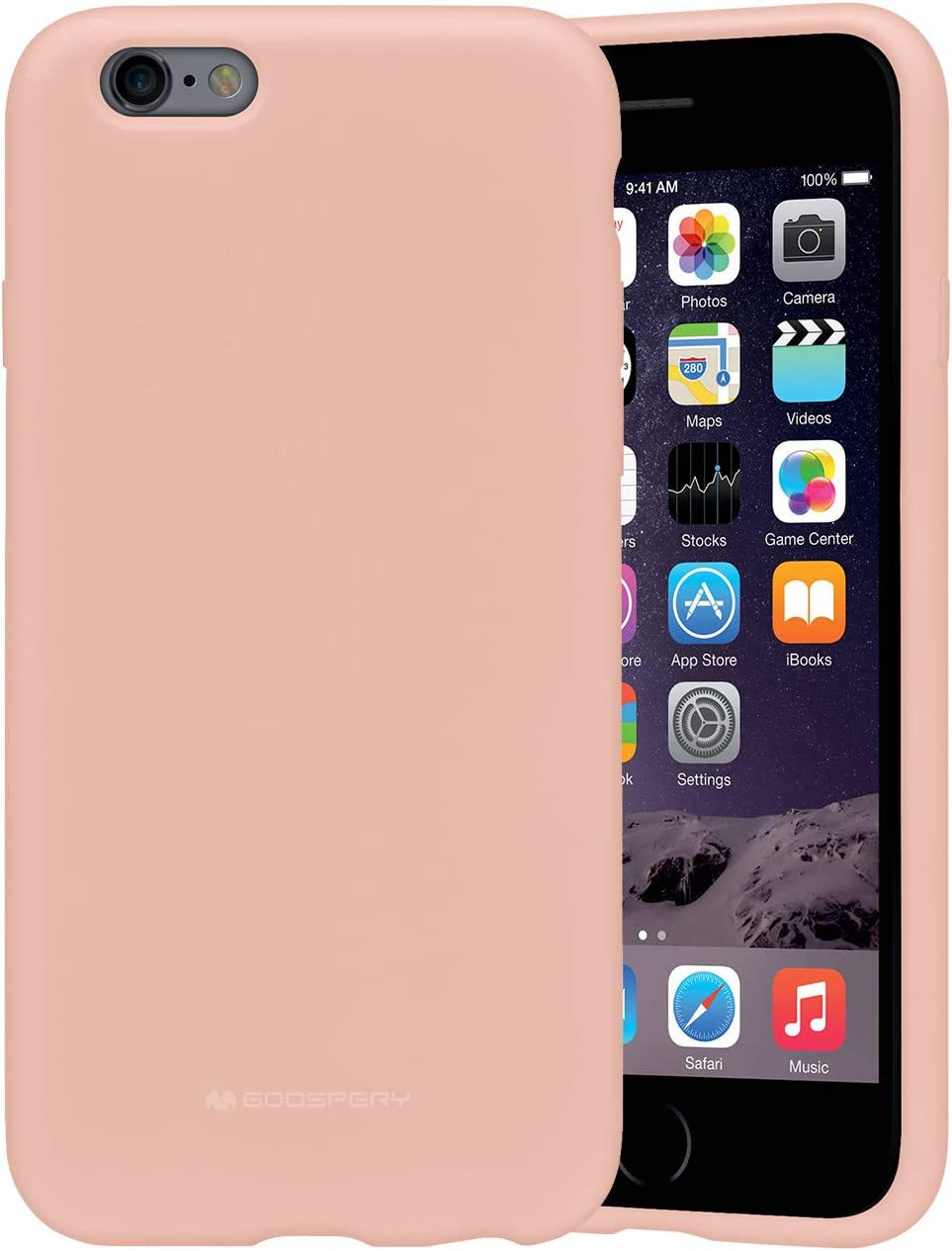 Goospery Liquid Silicone Case for iPhone 6 / iPhone 6s Jelly Rubber Bumper Case with Soft Microfiber Lining (Pink Sand) IP6-SLC-PNK