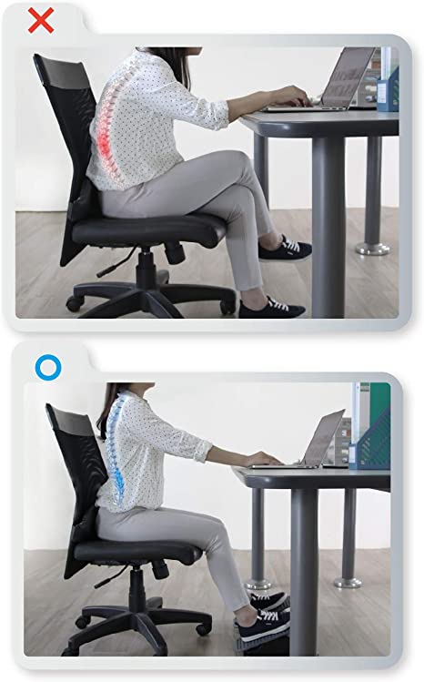Balance 1 Ergonomic Office Footrest for Sitting Posture Correction Grey