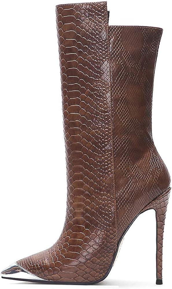 Bestbewertet Schlussverkauf Hohe Qualität Lydee Mode Stiletto Damen Western Stiefel Braun 10cm 1 IgthE 7PTER OgSgw