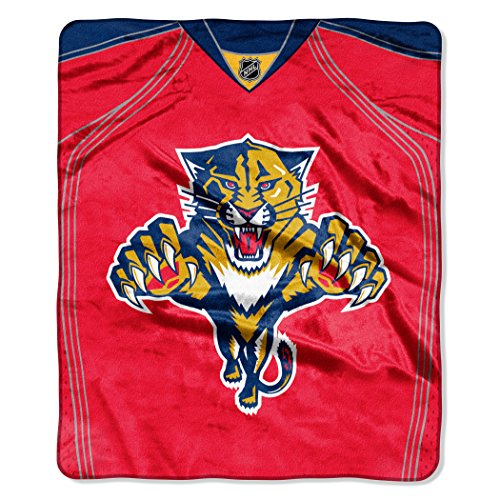 fan products of NHL Florida Panthers Jersey Plush Raschel Throw, 50