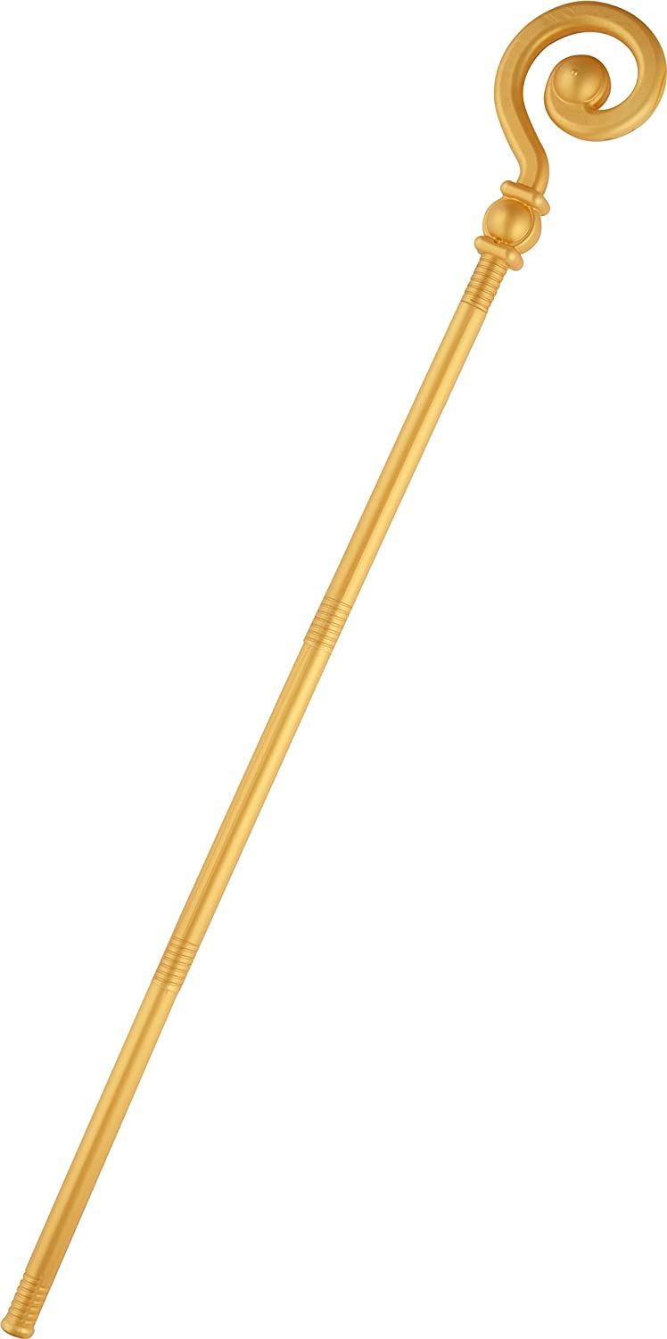 Smiffys 48151 Extendable Crozier Staff, Gold, One Size RH Smith & Sons