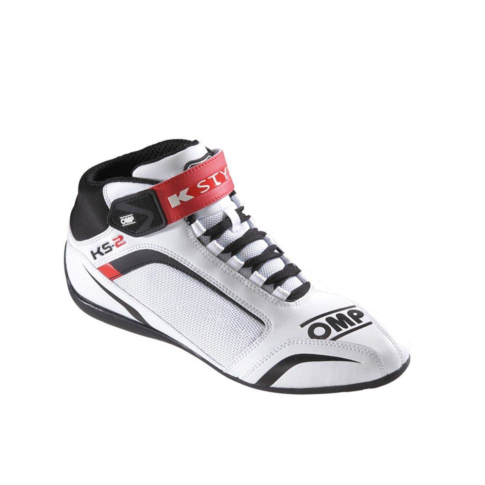 Blanco//Negro//Rojo Talla 38 OMP OMPIC//81212038 Zapatillas