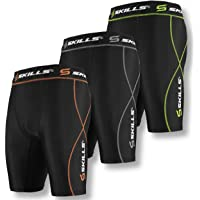 Skills Black Compression Shorts for Men - Increases Power and Reduces Muscle Fatigue - Sports Performance Underwear…