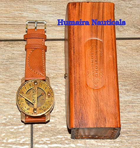 Humaira Natical Wirst Watch Sundial Compass Nice Gift Item With Leather Cover