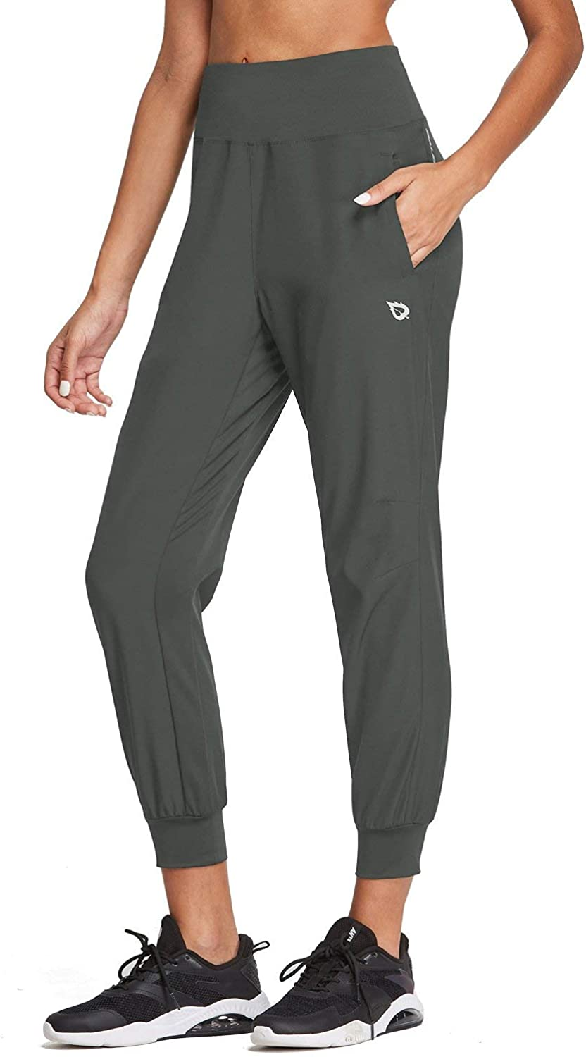 """BALEAF Women's 26"""" High Wasited Joggers Lightweight Athletic Running Sport Pants Quick Dry: Clothing"""