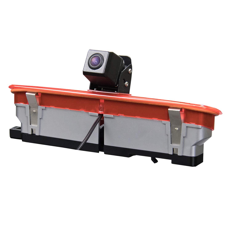 HD Rear Reverse Backup Parking Camera,3rd Brake Light Camera Replacement for Transporter Fiat Doblo .Opel Combo 2011-2019 2010-2019