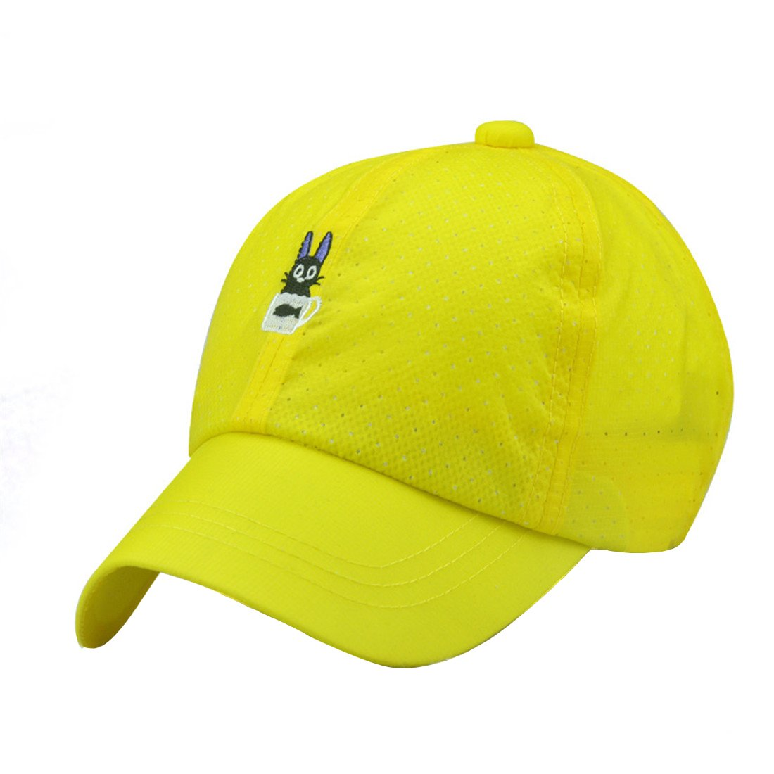 ACVIP Little Boy Girl Summer Cat Embroidery Solid Sun Protection Baseball Hat