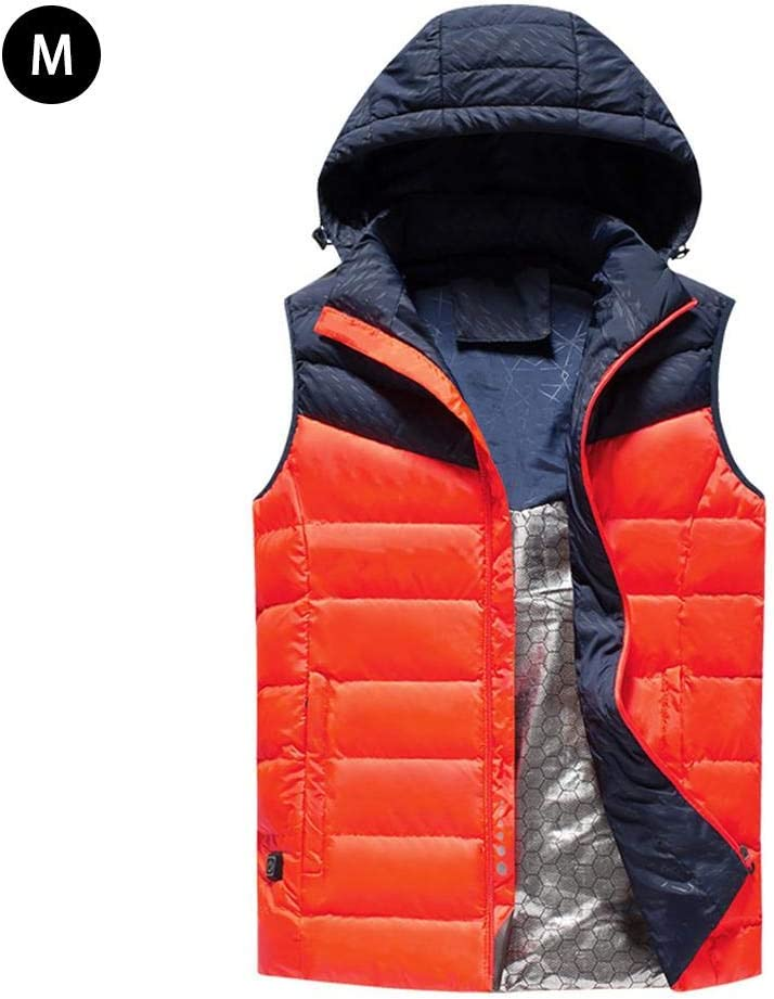 L/â Vestmon Unisex Heated Vest USB Charge Electric Heated Body Warmer Down Vest Rechargeable Thermal Vest with 3 Heat Settings Winter Warm Vest 2XL grey