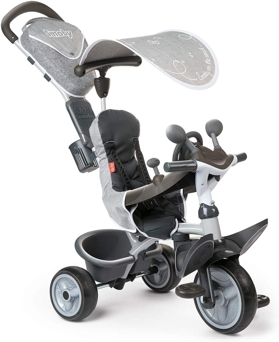 Smoby- Triciclo evolutivo, Color Gris (741202)