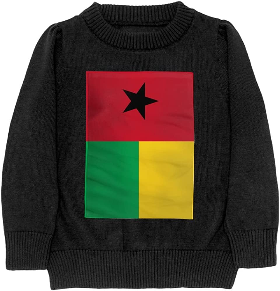 DTMN7 Flag Of Guinea-Bissau Teens Sweater Long Sleeves Crew-Neck Youth Athletic Casual Tee Junior Boys