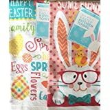 Spring Has Sprung & Some Bunny Loves You Kitchen Towel Set of 2 (15 x 25in).