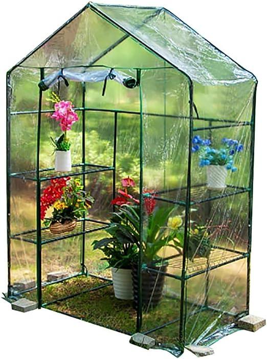 Planta de jardín al Aire Libre Green House, con Persiana Exterior Aislante Que Cubre la Lluvia 143 × 73 × 195 cm: Amazon.es: Hogar