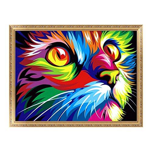 Doober 5dダイヤモンド刺繍DIYカラフルなライオン絵画クロスステッチクラフトホームデコレーション