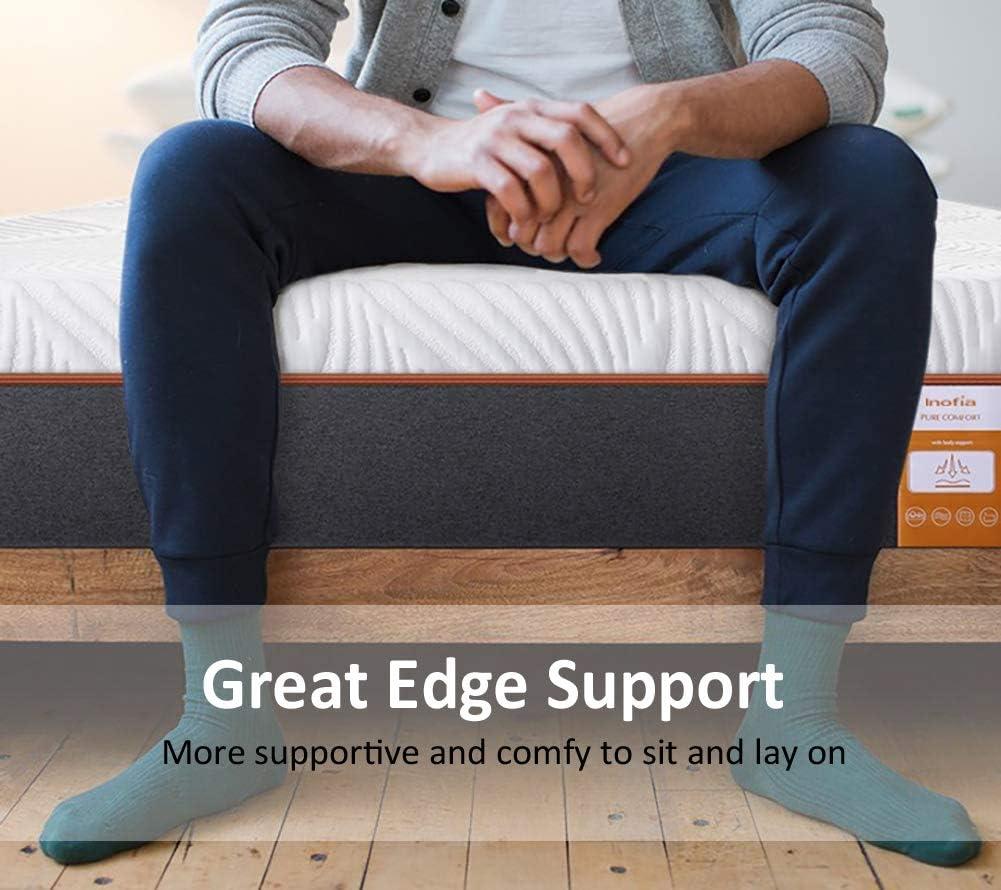 10 Inch King Mattress Medium Firm,100-night Free Trial Coolvie Memory Foam and Pocket Spring Hybrid Bed Mattresses