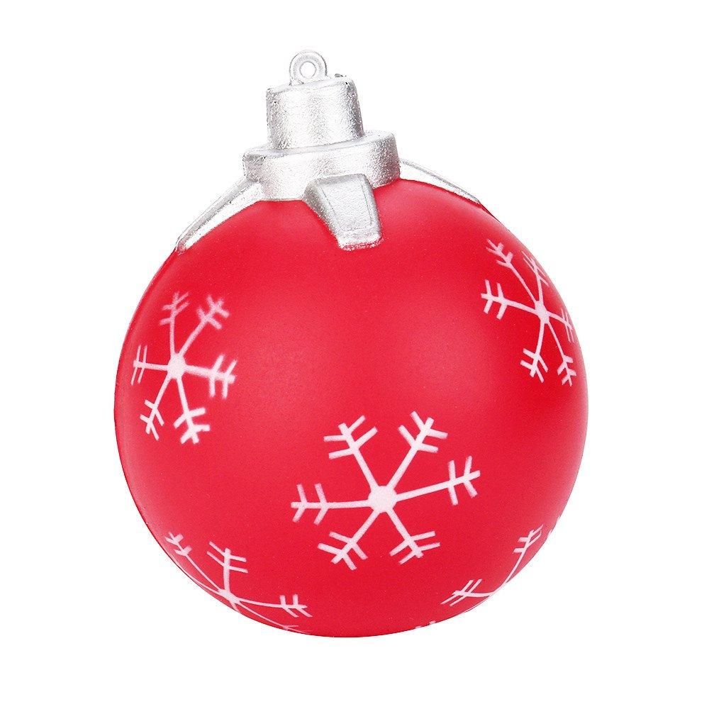Prise Druck Dekompression Spielzeug langsam Rebound PU Extrusion Spielzeug, Malloom 9cm Weihnachtskugel Creme duftenden Squishy steigende Squeeze Telefon Charme Malloom-Bekleidung