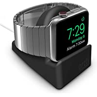 Orzly® Compact Stand for Apple Watch - Nightstand Mode Compatible - Black Support Stand with Integrated Cable Management Slot (38mm & 42mm & 40mm & 44mm Compatible)