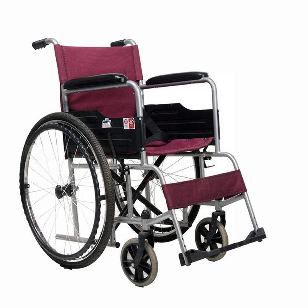 LUO Cochecitos Médicos para el Hogar, Sillas de Ruedas Plegables, Scooters Ligeros para Ancianos,Rojo,Un tamaño: Amazon.es: Deportes y aire libre