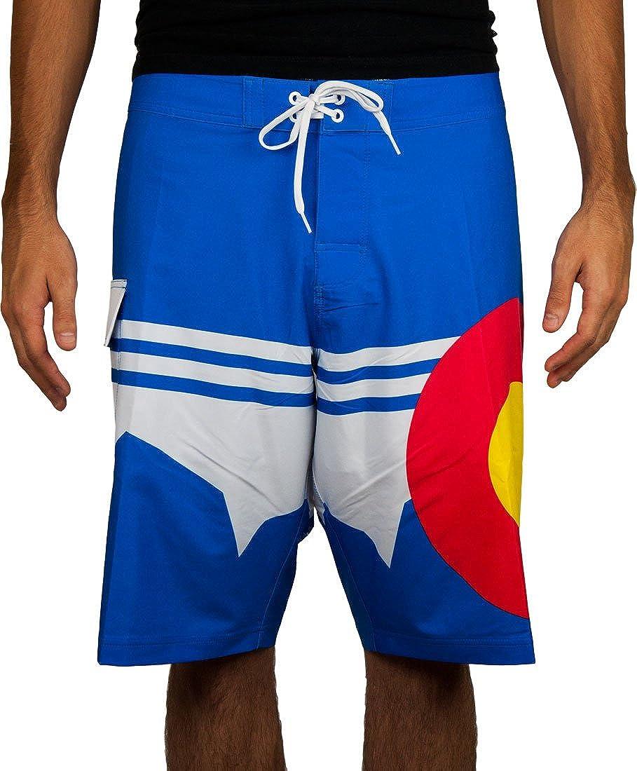 Colorado Bred Colorado Mountain 22 Stretch Boardshorts Royal Blue
