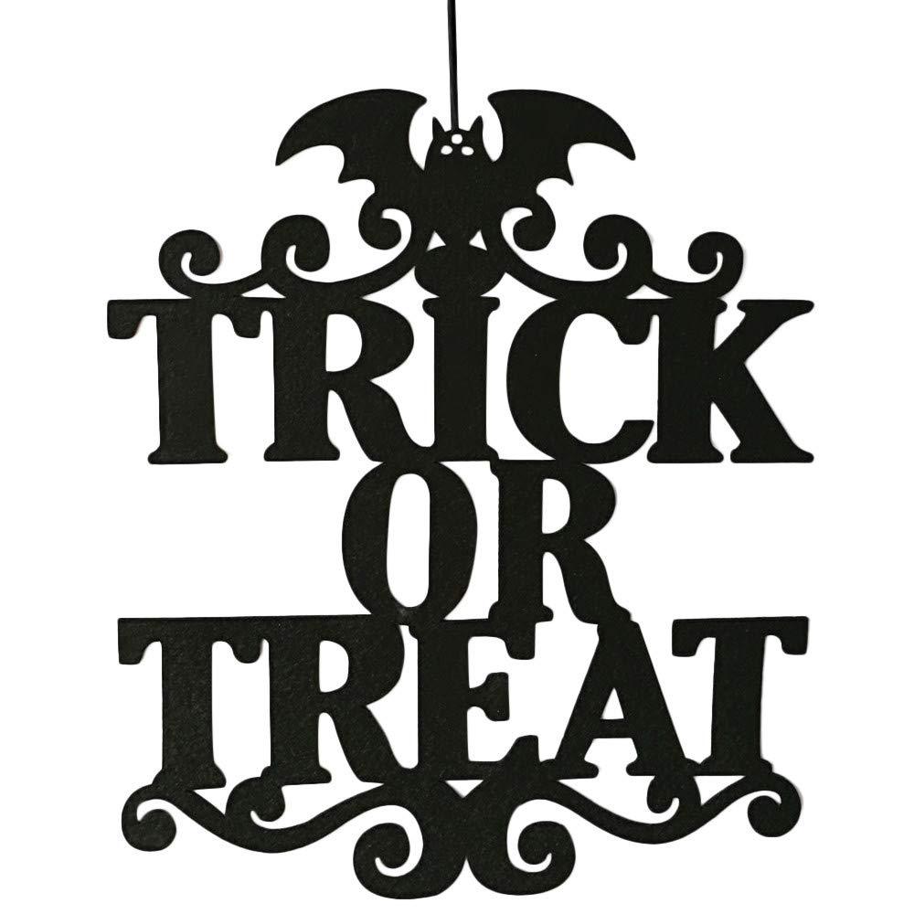 OHQ La Bruja Est/á En Halloween Colgante Letrero Puerta Colgando Decoraci/óN De Halloween Pegatina De Pared Etiqueta