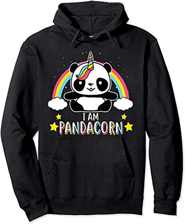 LELE I am Pandacorn Unicorn Unisex Boy Girl Youth Women Men Adult Pullover Hooded Pocket Hoodie Sweatshirt