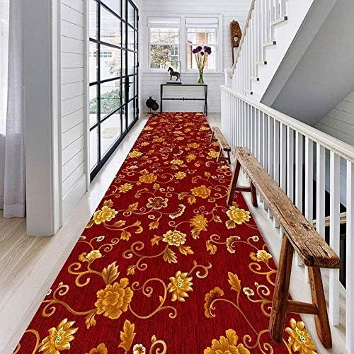 YANAN-廊下ランナー レッド花廊下エントランスランナーラグロングカーペットランナー非スリップマット用ホールや階段には、カスタマイズ可能なサイズを印刷します ロングカーペット (Size : 0.5×4m)