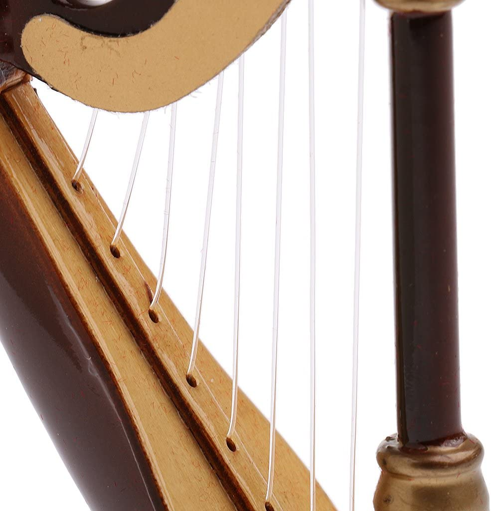 1//12 Natural Wooden Mini Harp Music Playing Toy for 12/'/' Dragon Action Figure