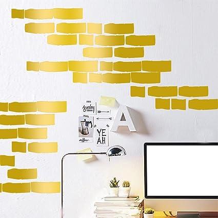 Amazon.com: Amaonm® 27 PCS Removable DIY Vinyl Brick Wall Decals ...