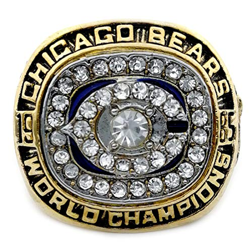 OMG-LIFE Chicago Bears 1985-1986 Replica Championship Ring Size 9/10/11/12 (12, Chicago Bears)