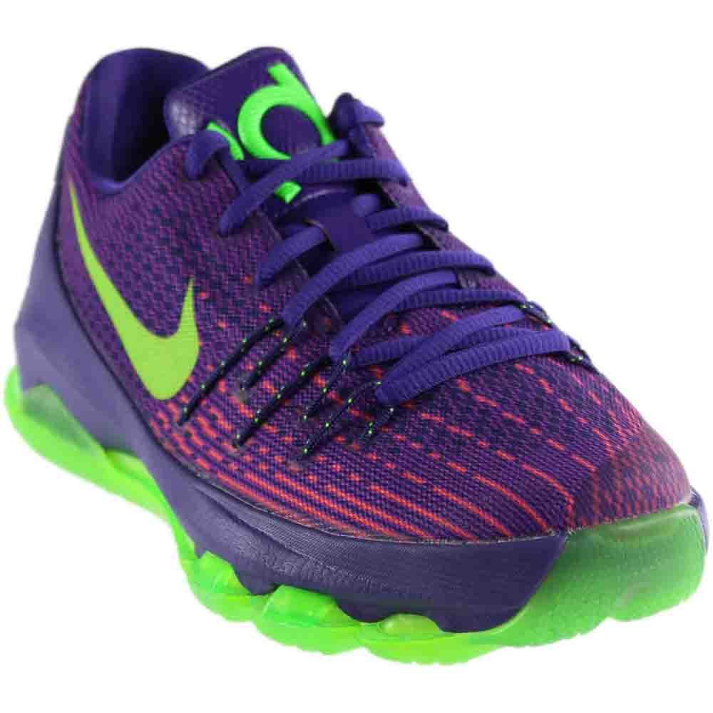 e966049ee6af Galleon - Nike Youth Kevin Durant KD 8 Boys Basketball Shoes Court  Purple Green Strike 768867-535 Size 6