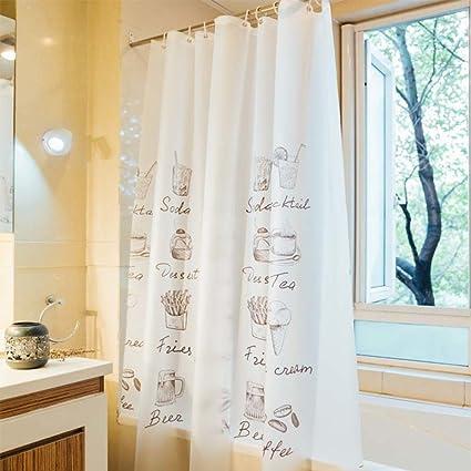Tende da doccia canta addensare impermeabile prova della muffa bagno ...