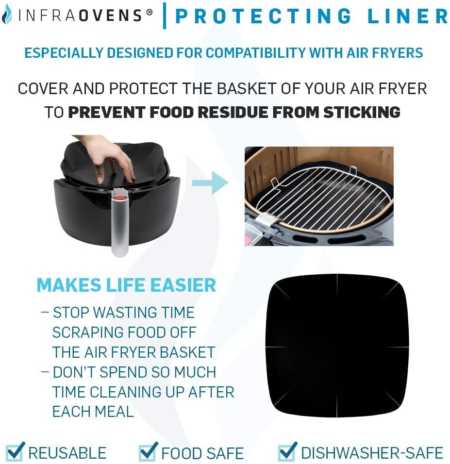 Chefman Cooking Guides. Maxi-Matic Dash NuWave Complete Set of Airfryer Rack Air Fryer Accessories Compatible with Costzon Comfee +More Cake Pan Philips Gourmia Enklov Cosori Secura
