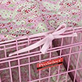 ProSelect Crate Pet Cotton Cover and Polyfilled Bed 2-Piece Set, Small, Pink Paisley