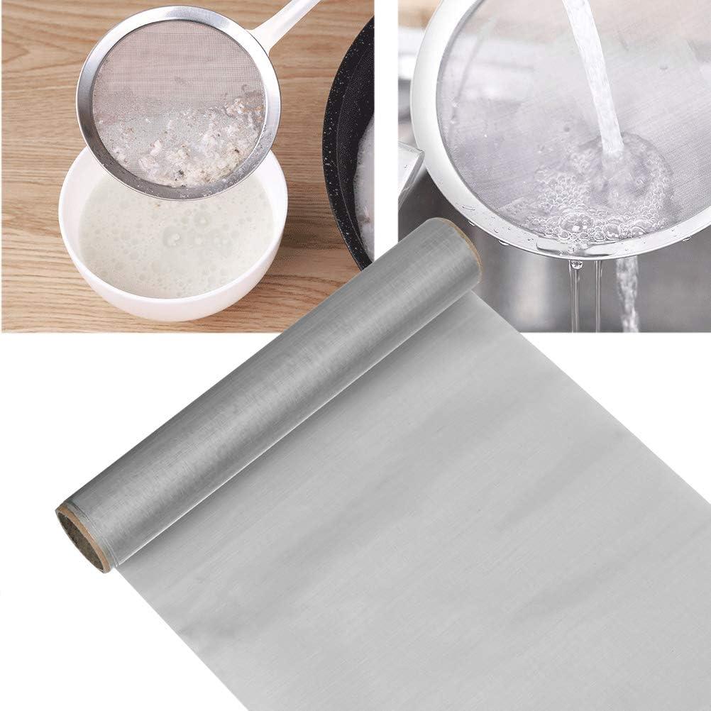 Maille dacier Inoxydable 304 Filtration en Feuilles Filtre d/écran TIMESETL 30 x 100 cm Tissu de Treillis m/étallique