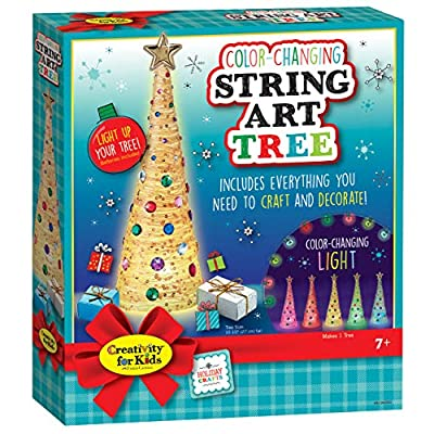 Creativity for Kids – Color Changing String Art Tree – Homemade Holiday Decoration: Toys & Games