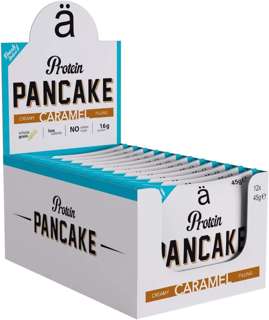Proteína Pancake – Caramel (12 unidades): Amazon.es: Salud y ...