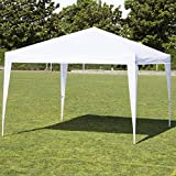 Best Choice Products 10x10ft Outdoor Portable Adjustable Lightweight Sturdy Instant Pop Up Gazebo Shade Canopy Tent w/Carrying Bag, Easy Assembly & No Tools Needed - White