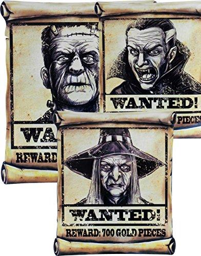 Morbid Enterprises Wanted Poster Assortment Halloween Prop Decoration