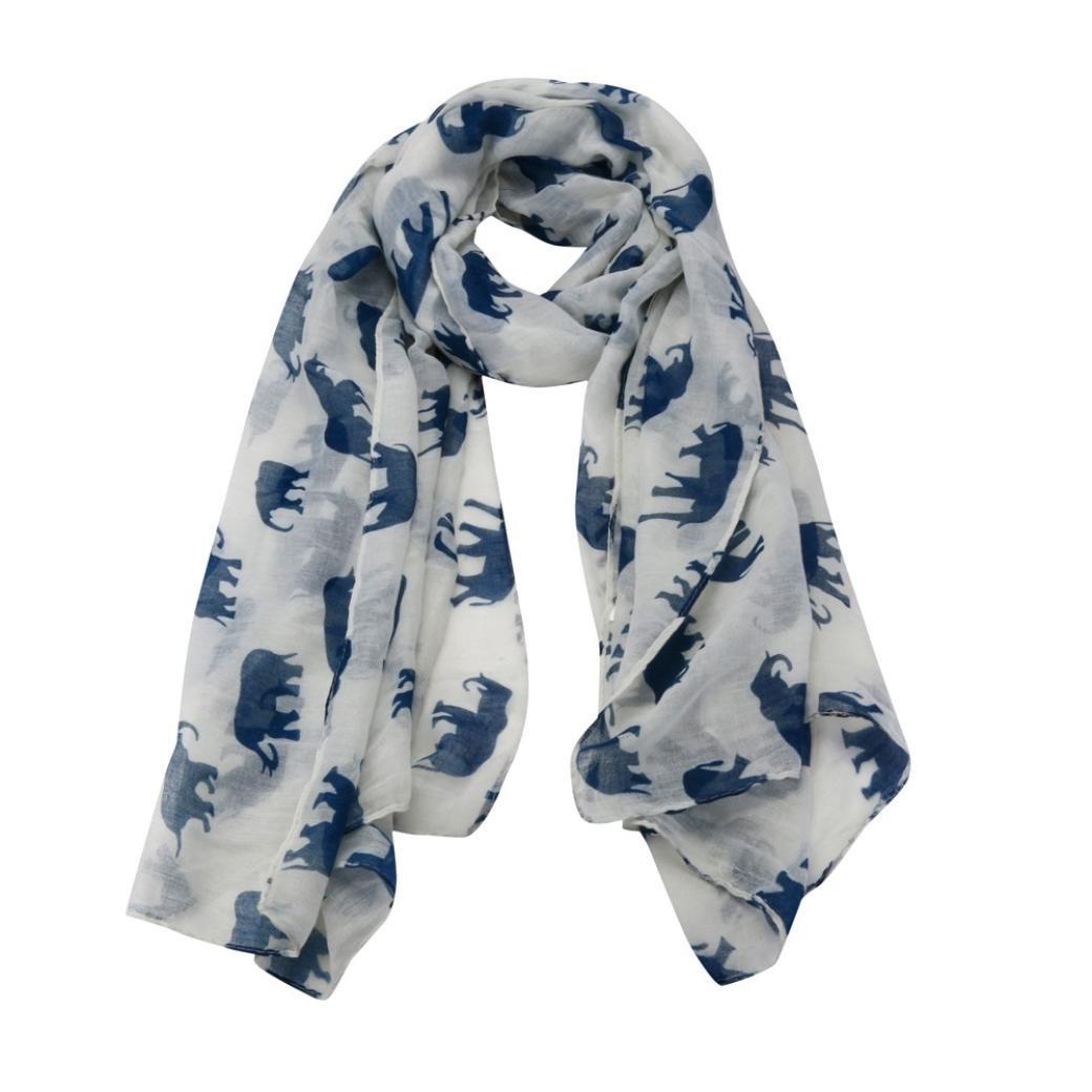 413a256c4fc67 HUHU833 Écharpes châle foulards Femmes mode impression léléphant longue  écharpe châle Automne Hiver