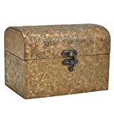 Best Trinket Boxes With Golds - Decorative Wooden Jewelry Box Trinket Organizer Keepsake Box Review