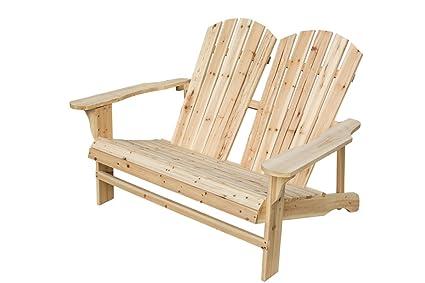 Ordinaire California Patio Wooden Double Adirondack Chair Loveseat