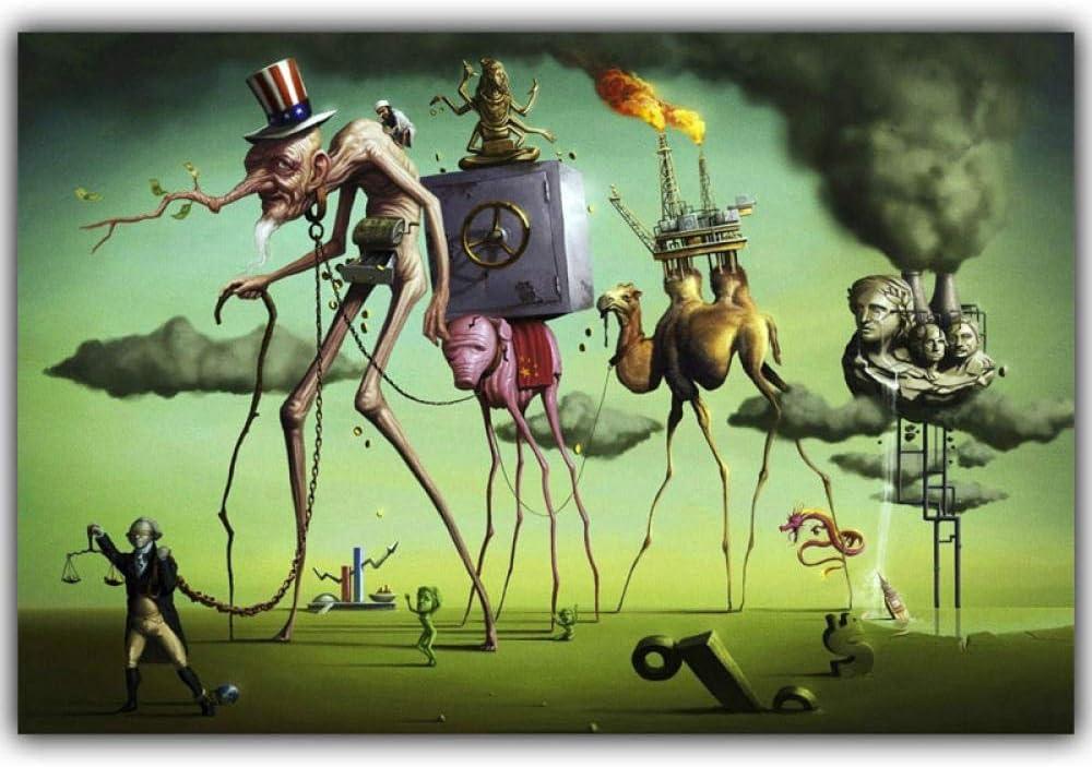 Chihie Salvador Dali Surrealismo Pintura Abstracta Elefante Arte Carteles Antiguos Fotos Decoración del hogar 60cm x90cm Sin Marco