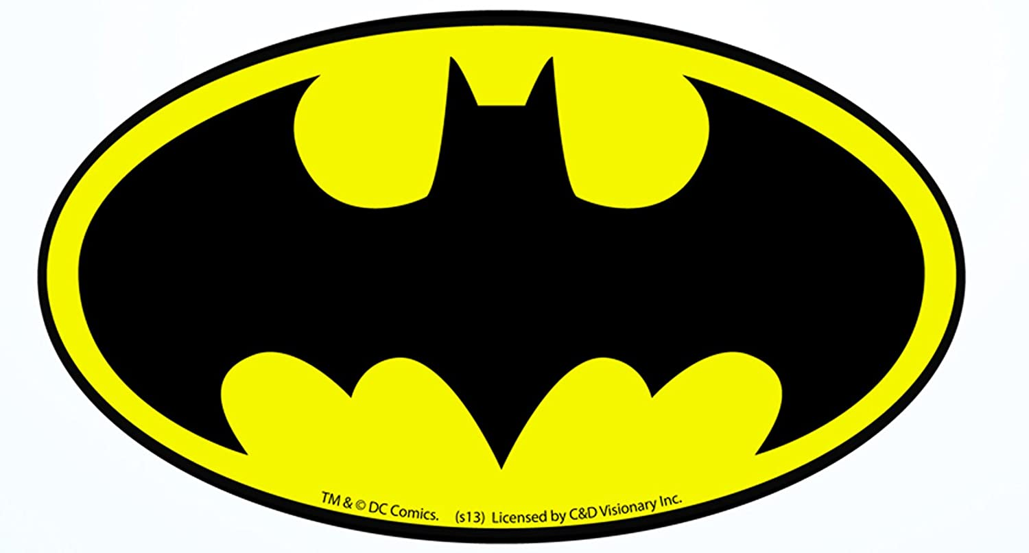 Licenses products dc comics batman logo sticker cd visionary inc amazon ca toys games