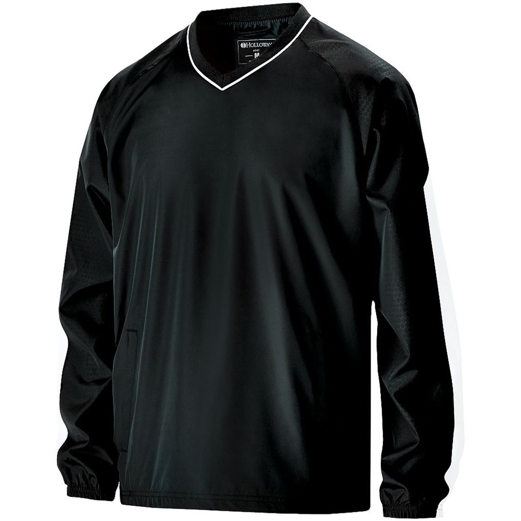 Holloway Youth Bionic Pullover Windshirt (Medium, Black/White) by Holloway
