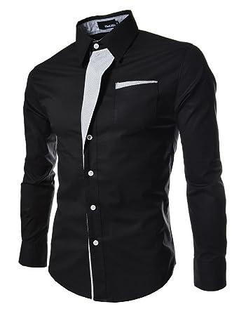Casual Men Shirts Long Sleeve Camisa Masculina Camisetas Social Roupas Blusas Slim Fit Casual-shirts