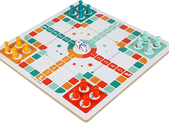 ocijf179 2 in 1 Flying Chess Snake Ladder Gomoku Interactive Game Kids Educational Toy,Perfect Training Childrens Intelligence Gifts Flying Chess Gobang