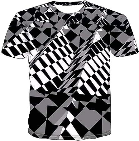NSBXDWRM Camiseta con 3D Impreso,Unisex Novedad 3D Creative ...