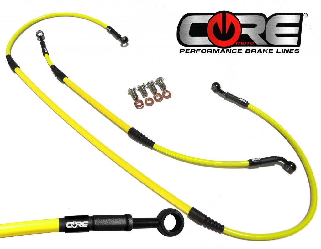 05-16 Core Moto CC0022-TR MX Front and Rear Brake Line Kit Translucent Red for RM-Z250 //RM-Z450 07-16