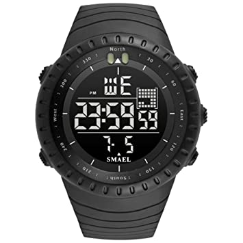 Hombres Sport Style LED Reloj Digital Hombres Relojes De Pulsera Analógicos Military Wathes Hombres Reloj Impermeable G Relogio Masculino,B: Amazon.es: ...